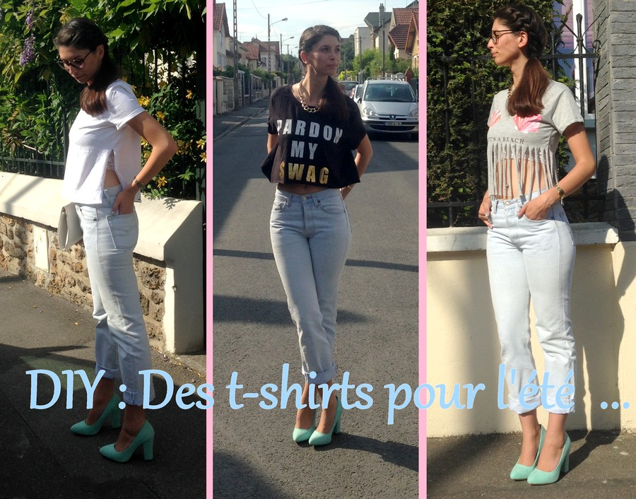 diy des t shirts pour l 39 t estelle test for you. Black Bedroom Furniture Sets. Home Design Ideas