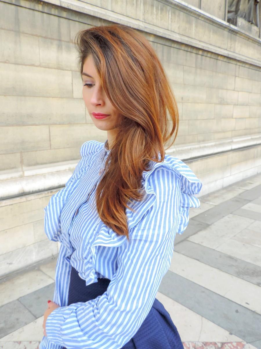 Chemise à volants